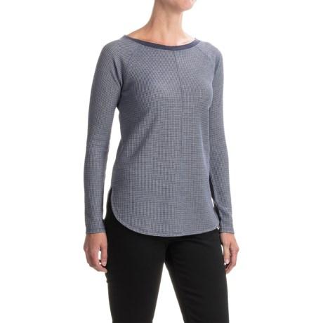 Lilla P Waffle Stripe Shirt - Long Sleeve (For Women)