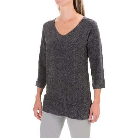 Lilla P Boucle Tunic Sweater - V-Neck (For Women)