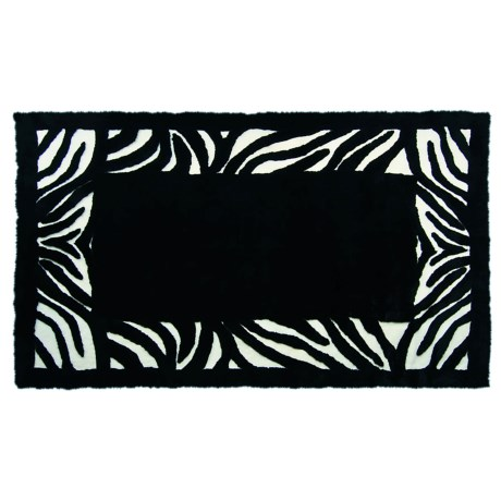 Auskin Zebra  Designer Sheepskin Rug - Rectangular, 5x8'