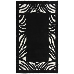 Auskin Zebra  Designer Sheepskin Rug - Rectangular, 8x12'