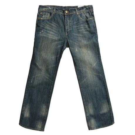 M. Gordon Vintage Wash Jeans - Gold Stitch Pockets, Button Fly (For Men)