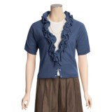 Two Star Dog Brett Cardigan Shirt - Linen-Cotton, Short Sleeve (For Women)