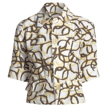 Two Star Dog Kara Jacket - Linen-Cotton, Elbow Sleeve (For Women)