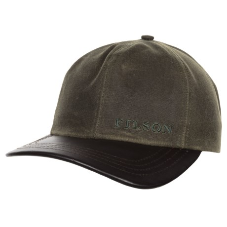 Filson Tin Cloth Leather Baseball Cap (For Men)