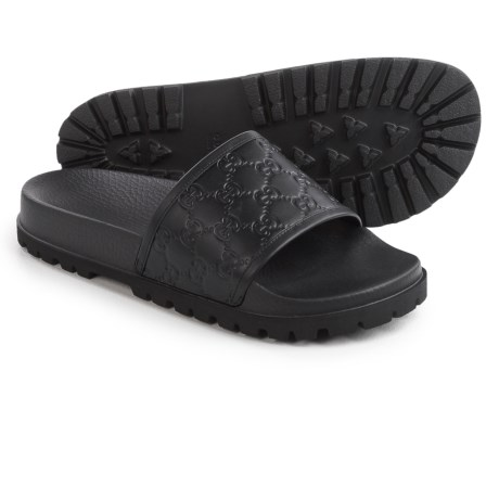 Gucci Signature Slide Sandals - Leather (For Men)