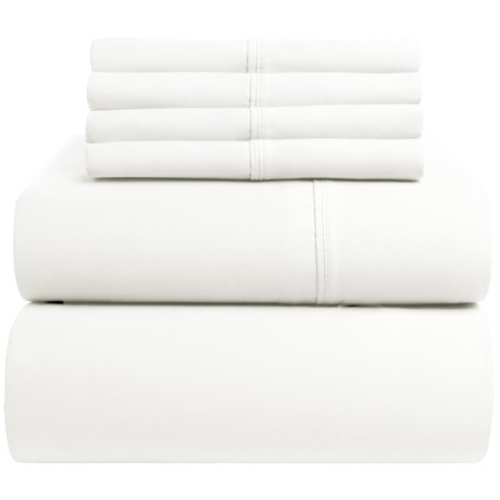 Elite Home Regency Cotton Sateen Sheet Set - Queen, 400 TC