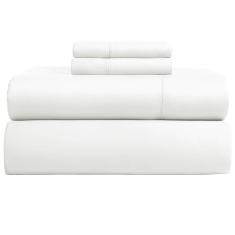 Elite Home Hemstitch Cotton Sateen Sheet Set - Full, 600 TC