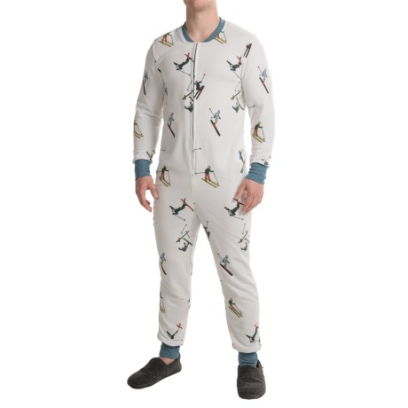 Aegean Apparel Plush Fleece Lounger Jumpsuit (For Men)