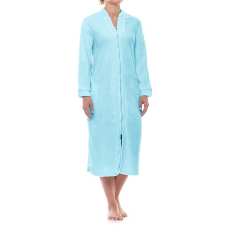 Aegean Apparel Plush Zip Robe - Long Sleeve (For Women)