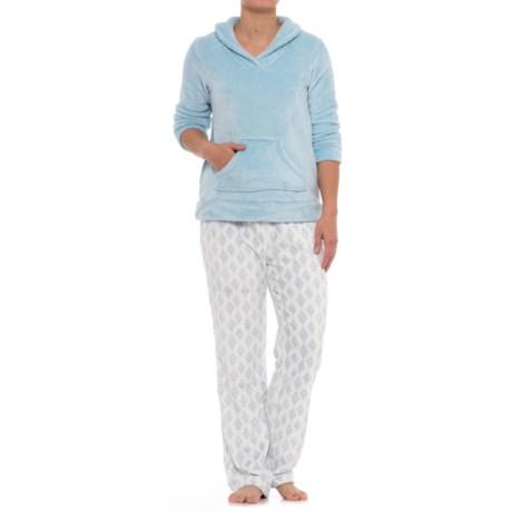 Aegean Apparel Cashmere Plush Shirt and Pants Set - Long Sleeve (For Women)