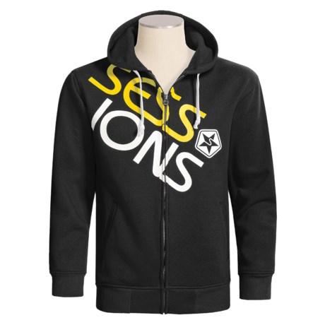 Sessions Scoop Hooded Sweatshirt - Full Zip (For Men)