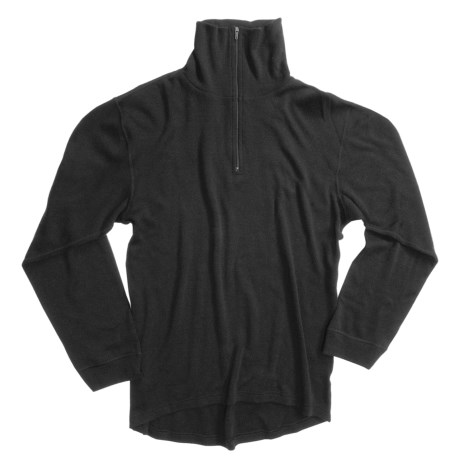 Ivanhoe Underwool Base Layer Zip Neck Top - Merino Wool, Heavyweight, Long Sleeve (For Men)