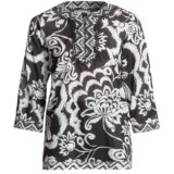 Tyler Boe Border Tunic Shirt - Cotton-Silk, 3/4 Sleeve (For Women)
