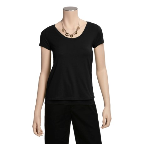 Tyler Boe Double-Layer Scoop T-Shirt - Short Sleeve (For Women)