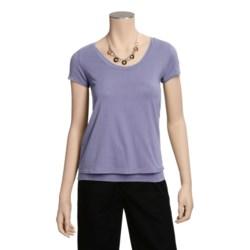 Tyler Boe Double-Layer Scoop T-Shirt - Short Sleeve (For Women)