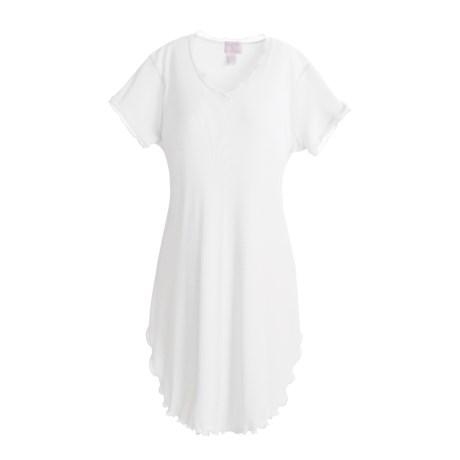 Paddi Murphy Softies Nightgown - Georgette, V-Neck, Short Sleeve (For Women)