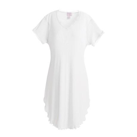 Paddi Murphy Softies Nightgown - Georgette, V-Neck, Short Sleeve (For Women)