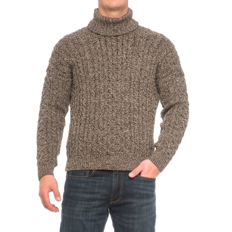 J.G. Glover & CO. Peregrine by J.G. Glover Turtleneck Aran Sweater - Merino Wool (For Men)