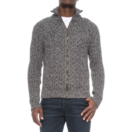 J.G. Glover & CO. Peregrine by J.G. Glover Aran Full-Zip Sweater - British Merino Wool (For Men)