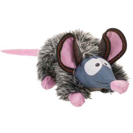"""Happy Tails LOONIES FURRY MOUSE 17"""" DOG TOY"""