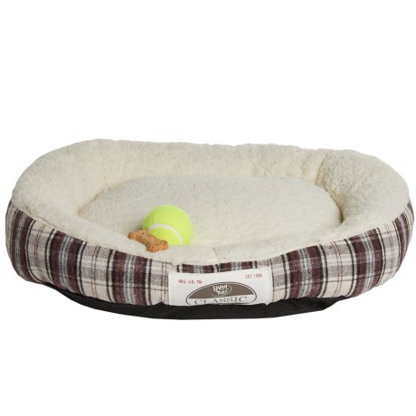 Happy Tails Plaid Cuddler Dog Bed - 24x20""