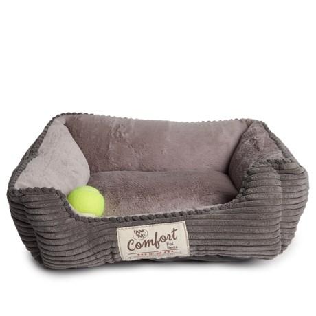 "Happy Tails Corduroy Cuddler Dog Bed - 21x17"""