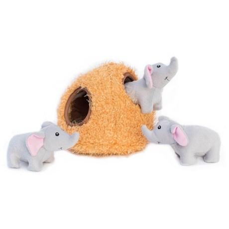 ZippyPaws Zippy Burrow Elephant Cave Dog Toy