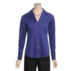 Paperwhite Essential Cotton Shirt - Wing Collar, Long Sleeve (For Women)