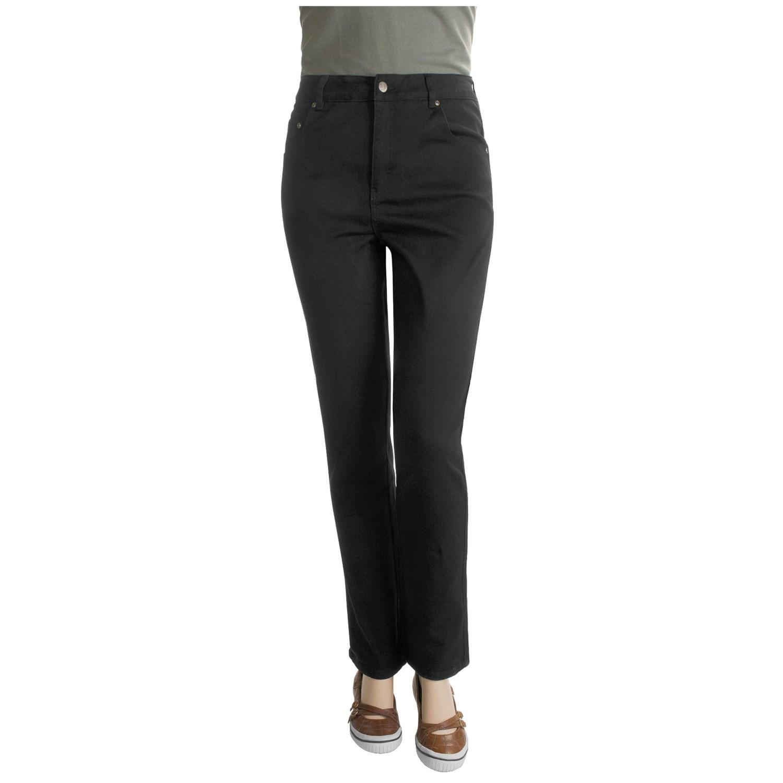 White Stretch Jeans Plus Size