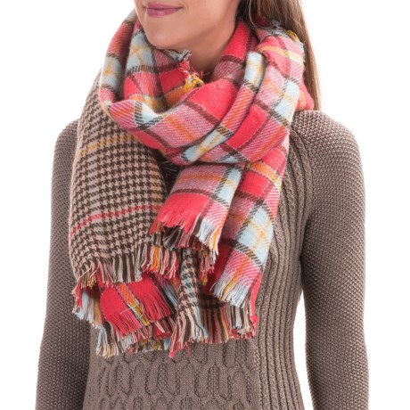 Woolrich Double Duty Plaid Wrap Scarf - Reversible (For Women)