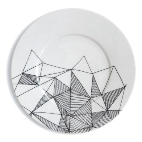 Bambeco Graphique Porcelain Salad Plate