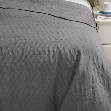 Bambeco Chevron Matelasse Coverlet - King, Organic Cotton