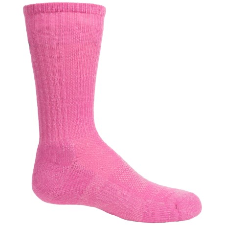 SmartWool Solid Light Hiking Socks - Merino Wool, Crew (For Big Kids)