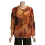 The Territory Ahead Artfelt Velvet Jacket (For Women)