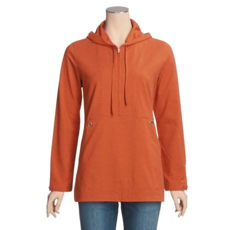 Neon Buddha Jersey Stretch Cotton Shirt - Hooded, Long Sleeve (For Women)