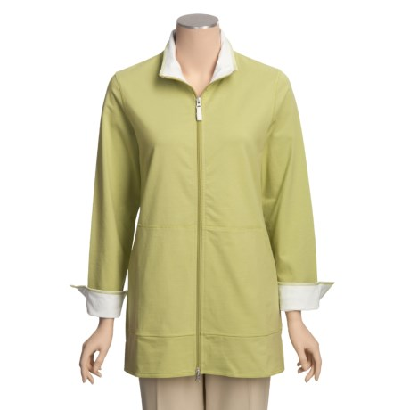Neon Buddha Adventure Tunic Shirt - Zip Front, Stretch Cotton (For Women)