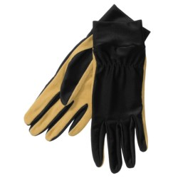 Auclair Work Gloves - Leather-Nylon (For Women)