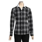 Katherine Barclay Plaid Blouse - Stretch Cotton, Long Sleeve (For Women)