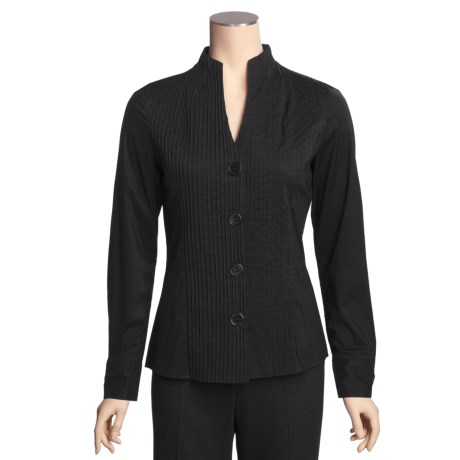 Katherine Barclay Pintuck Shirt - Stretch Cotton, Long Sleeve (For Women)