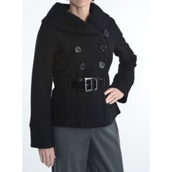 Katherine Barclay Wool Belted Pea Coat - Bell Sleeve (For Women)
