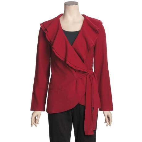 Katherine Barclay Boiled Wool Jacket - Wrap Front (For Women)