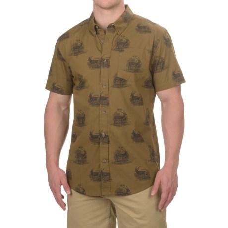 prAna Broderick Slim Fit Shirt - Organic Cotton, Short Sleeve (For Men)