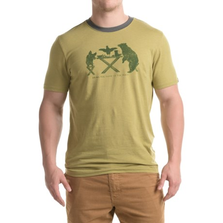 prAna Farm-to-Table Ringer T-Shirt - Organic Cotton Blend, Short Sleeve (For Men)