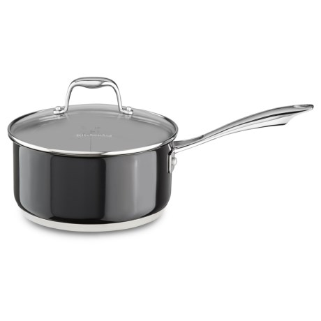 KitchenAid Stainless Steel Saucepan with Lid - 3 qt.