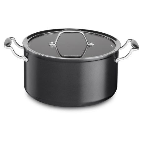 KitchenAid Hard-Anodized Nonstick Low Casserole Pan with Lid - 6 qt.