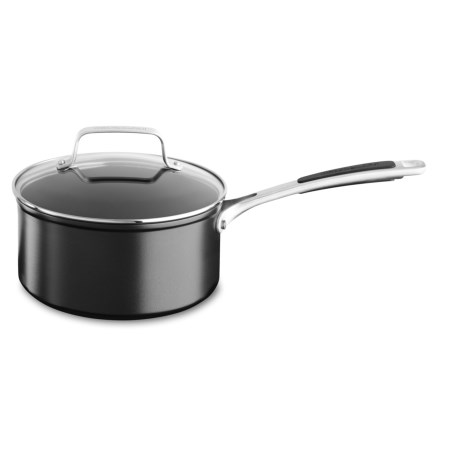 KitchenAid Hard-Anodized Nonstick Saucepan with Lid - 3 qt.