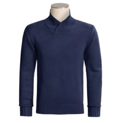 Rosasen Sweater with Suede Elbow Patches (For Men)