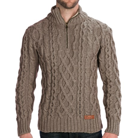 Peregrine by J.G. Glover Fisherman Sweater - Merino Wool, Zip Neck (For Men)