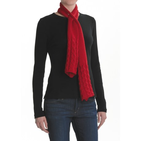 Peregrine by J.G. Glover Ring Cable Scarf - Wool (For Women)