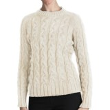 J.G. Glover & CO. Peregrine by J.G. Glover Merino Wool Sweater - Cable Crew (For Women)